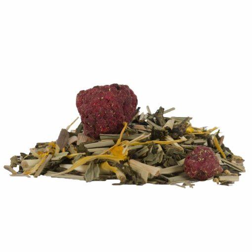 losse biologische groene thee met limoen en superfruit