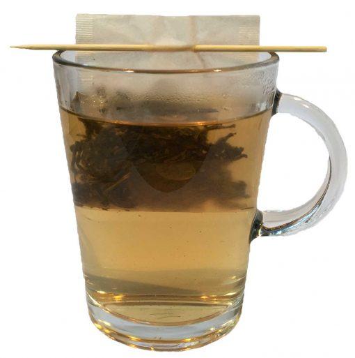 theezakje in glas