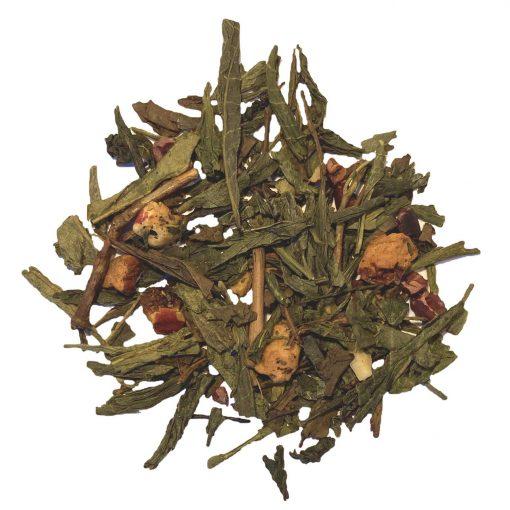 losse groene thee met walnoot appel en vanille